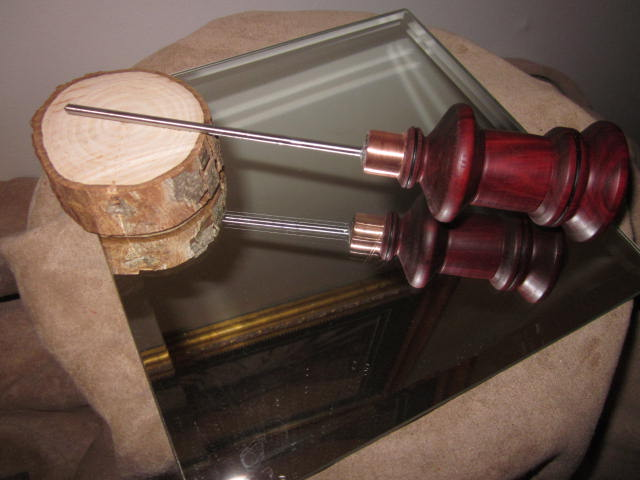 Hand Made Fancy South American Bloodwood WoodWorkers Scratch Awl 1.